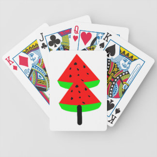 watermelon fruit tree bicycle playing cards