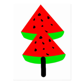 watermelon fruit tree postcard