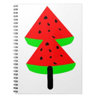 watermelon fruit tree spiral notebook