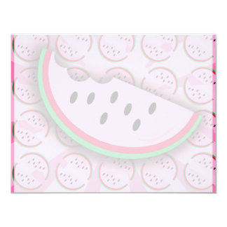 "Watermelon Fun! 4.25"" X 5.5"" Invitation Card"