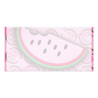 Watermelon Fun Photo Greeting Card