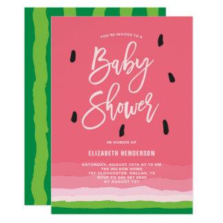 Watermelon Gradient Modern Baby Shower Card