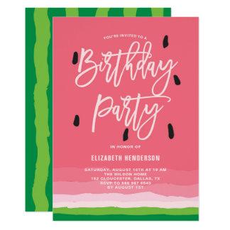 Watermelon Gradient Modern  Birthday Party Card