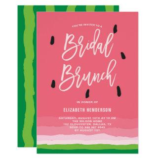 Watermelon Gradient Modern Bridal Brunch Card