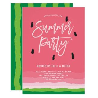 Watermelon Gradient Modern Summer Party Card
