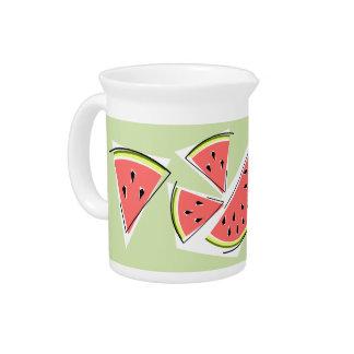 Watermelon Green Line pitcher