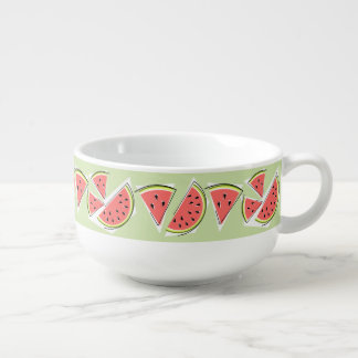 Watermelon Green Line soup mug