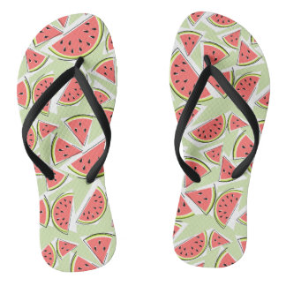 Watermelon Green Multi flip flops