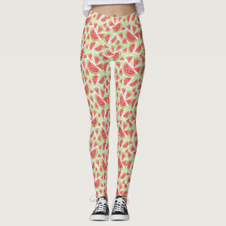 Watermelon Green Multi leggings
