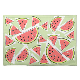 Watermelon Green Multi placemat cloth