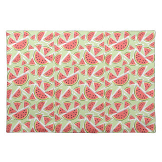 Watermelon Green Multi small pattern cloth Placemat