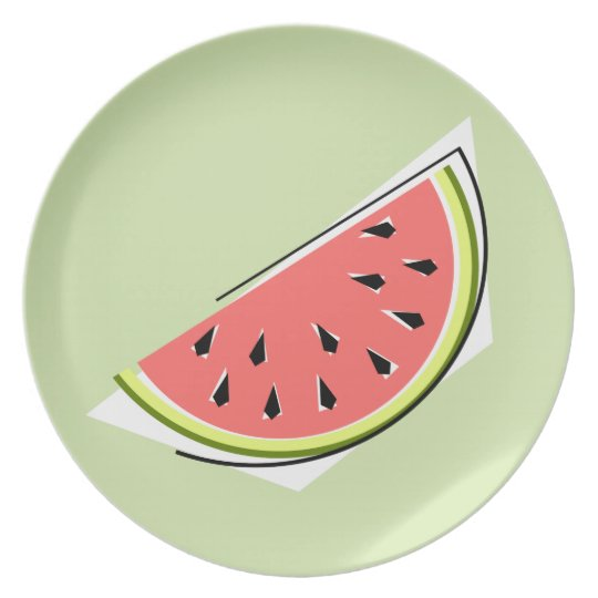 Watermelon Green Slice melamine plate