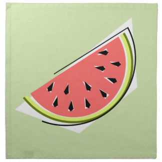 Watermelon Green Slice napkins cloth