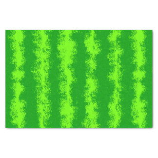 Watermelon Green Summer Fruit Rind Pattern Tissue Paper