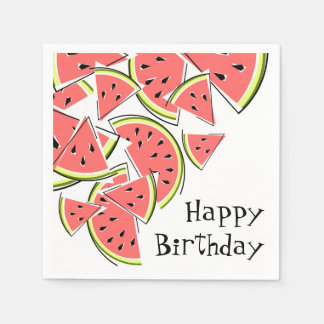 Watermelon Happy Birthday napkins paper Disposable Serviette