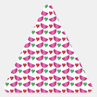 Watermelon heart pattern stickers