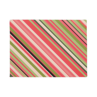 Watermelon-Inspired Stripes Doormat