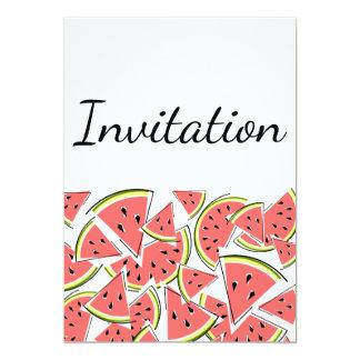 Watermelon invitation vertical