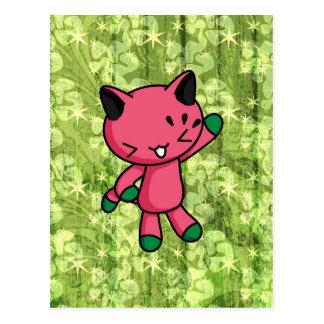 Watermelon Kitty Postcard