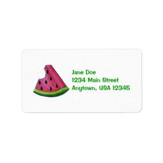 Watermelon Label Address Label