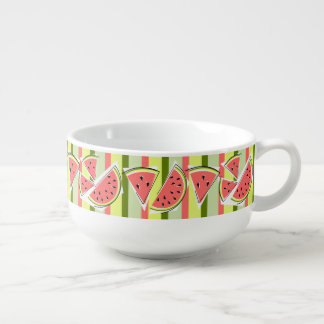 Watermelon Line Stripe soup mug