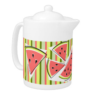 Watermelon Line Stripe teapot