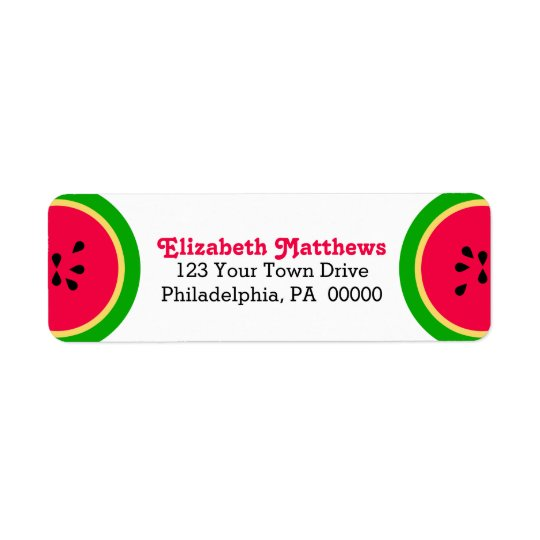 Watermelon Modern Summer Fun Return Address Label