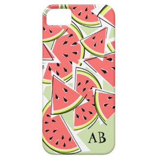 Watermelon 'Monogram' green iPhone 5 case vertical