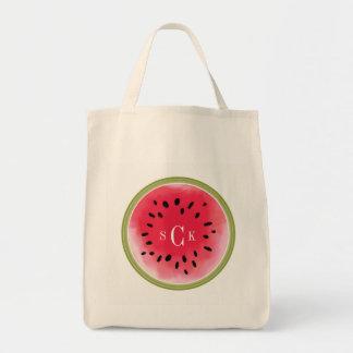 Watermelon  Monogram Tote Bag
