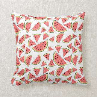 Watermelon Multi pink back square Cushion