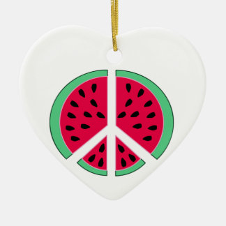 Watermelon of Peace Christmas Ornament