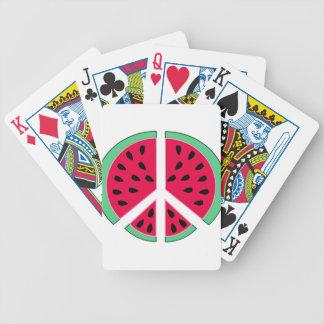 Watermelon of Peace Poker Deck