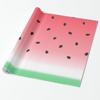 Watermelon Ombre Stripes Wrapping Paper