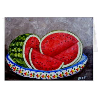 Watermelon Painting Card