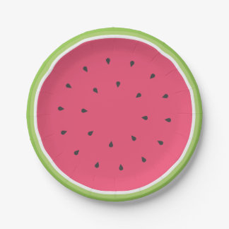 Watermelon Paper Plate