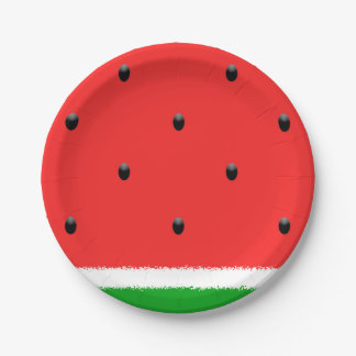 Watermelon paper plates. paper plate