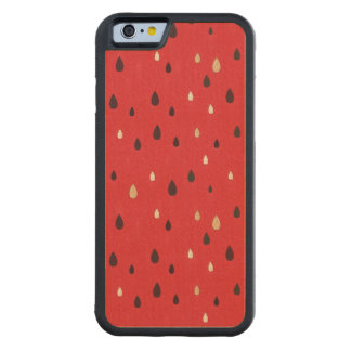 Watermelon Pattern Carved Maple iPhone 6 Bumper Case