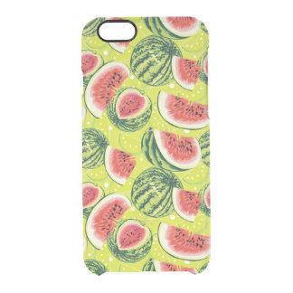 Watermelon Pattern Clear iPhone 6/6S Case