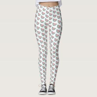 Watermelon pattern, fun, trendy, modern leggings