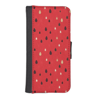 Watermelon Pattern iPhone SE/5/5s Wallet Case