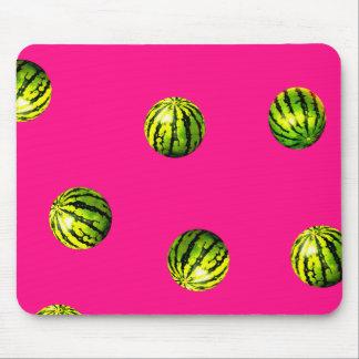 watermelon pattern pink mouse mat