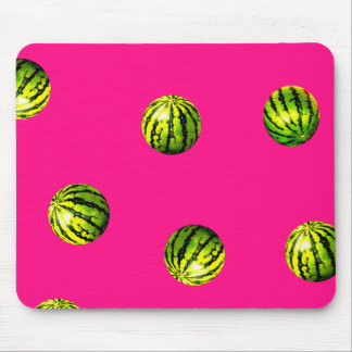 watermelon pattern pink mouse pad