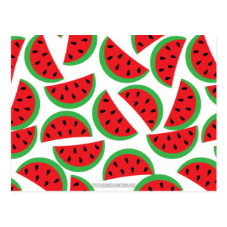 Watermelon pattern postcard