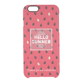 Watermelon Pattern, Summer Time | Personalized Clear iPhone 6/6S Case