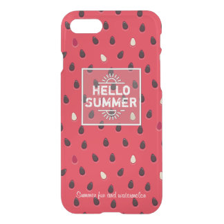 Watermelon Pattern, Summer Time | Personalized iPhone 8/7 Case