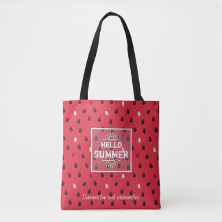 Watermelon Pattern, Summer Time | Personalized Tote Bag