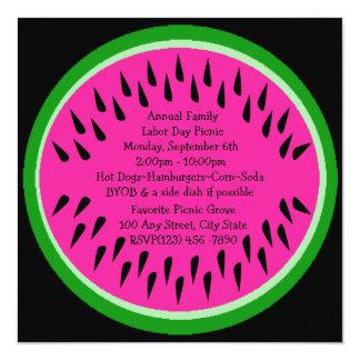Watermelon/ Picnic 13 Cm X 13 Cm Square Invitation Card