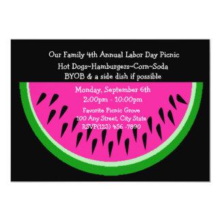 Watermelon/ Picnic 13 Cm X 18 Cm Invitation Card