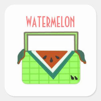 Watermelon Picnic Basket Square Sticker