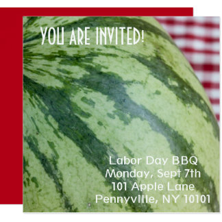 Watermelon Picnic Card